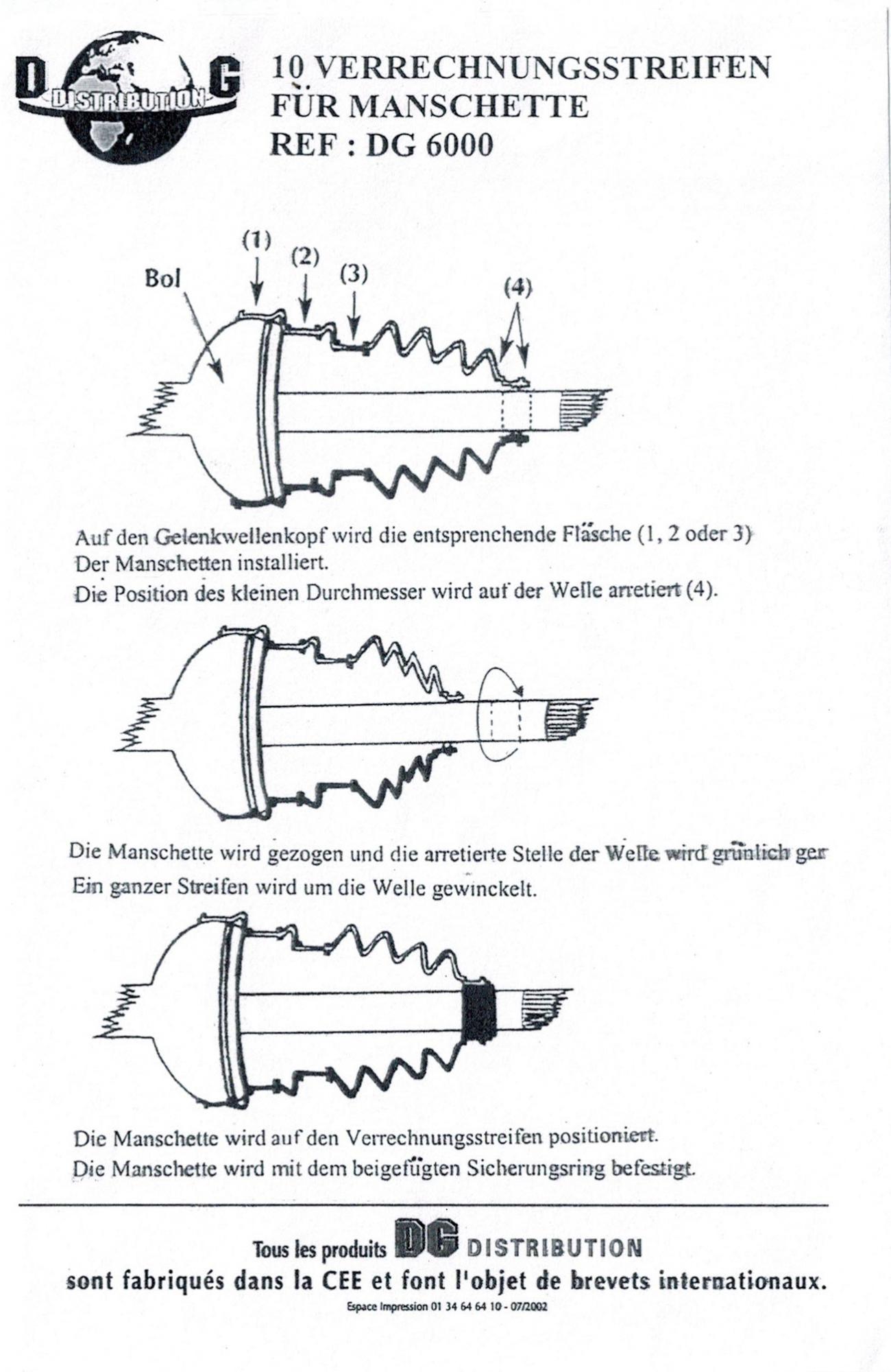 MAPCO 17992/10 Ausgleichsband für Universal Achsmanschetten