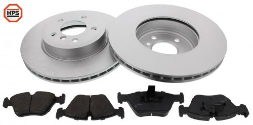 MAPCO 47787HPS Bremsensatz HPS Bremsscheiben + Carbon Bremsbeläge VA inkl. Warnkontakt
