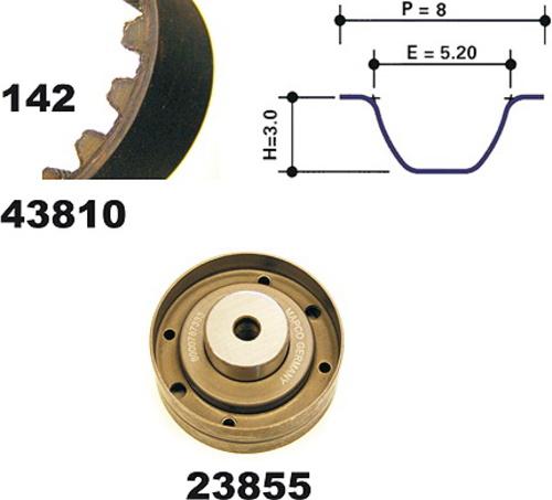 courroies MAPCO 41810 pour AUDI Pompe à eau