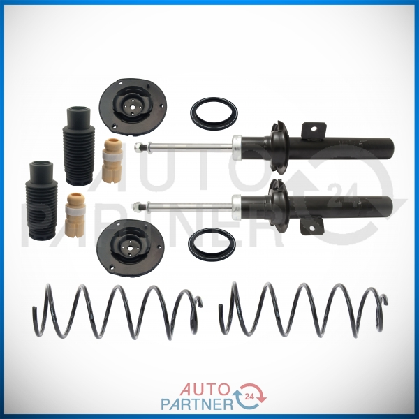 2 amortiguadores la presión del gas trasera izquierda derecha antipolvo-BMW 5er e39