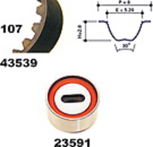 MAPCO 23539 Zahnriemensatz