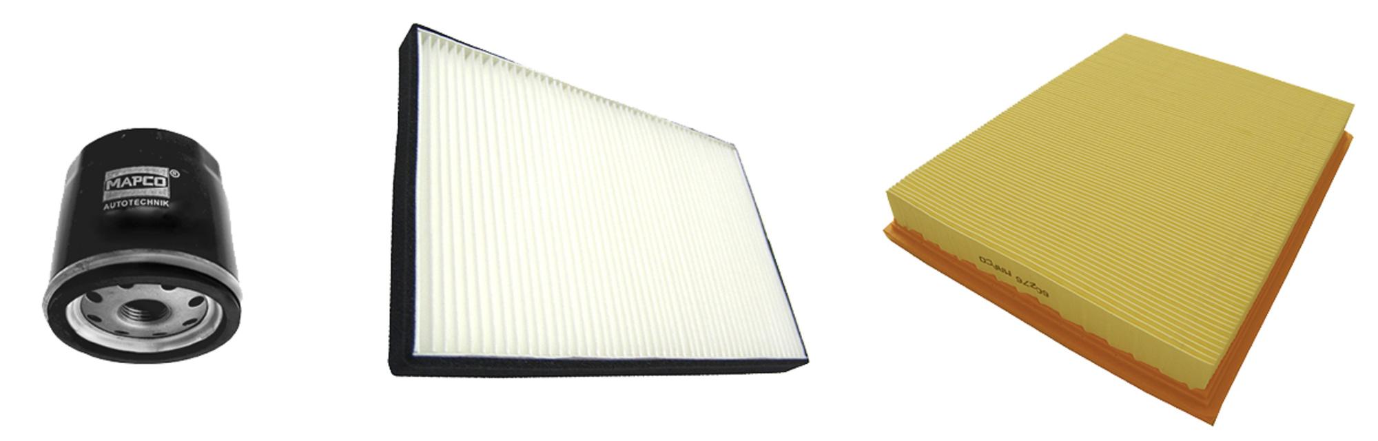 MAPCO 68709 Filtersatz Ölfilter Luftfilter Pollenfilter