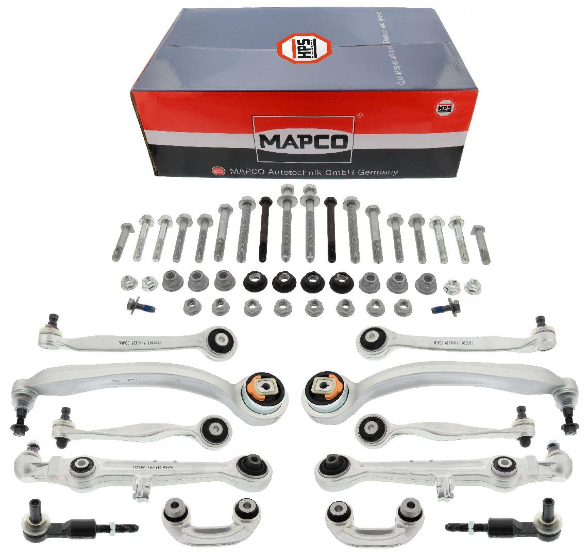 MAPCO 59826/1HPS Querlenkersatz verstärkt VA mit Koppelstangen mit Schraubensatz