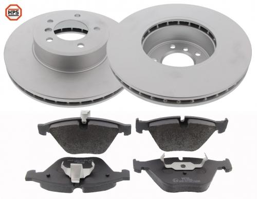 MAPCO 47781HPS Bremsensatz HPS Bremsscheiben + Carbon Bremsbeläge VA
