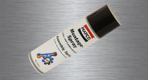 MAPCO bietet auch chemische Produkte: Bremsflüssigkeit, Universalschmierstoff (Montagespray auf Teflon-Basis)