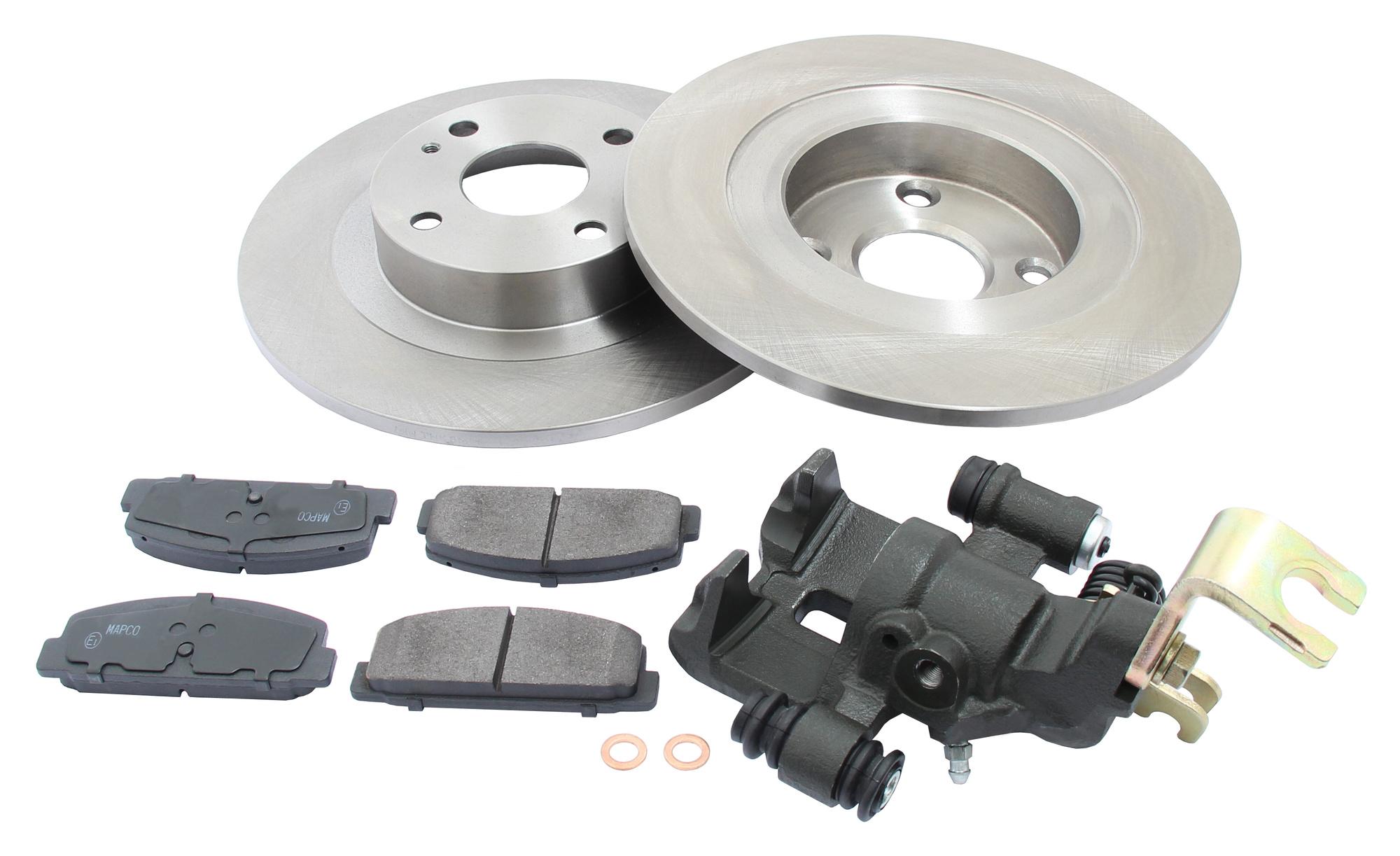 MAPCO 4504/5 Bremsensatz Bremsscheiben mit Bremsbelägen Hinterachse links