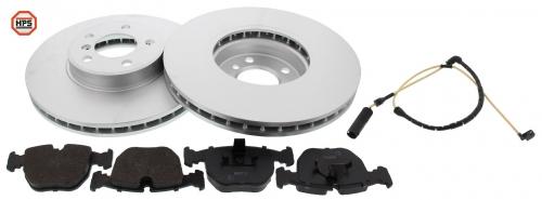 MAPCO 47708HPS Bremsensatz HPS Bremsscheiben + Carbon Bremsbeläge VA inkl. Warnkontakt