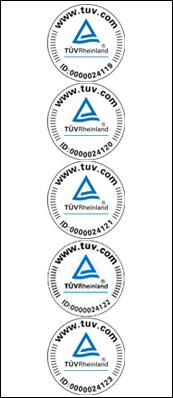 Certificato da TÜV Rheinland
