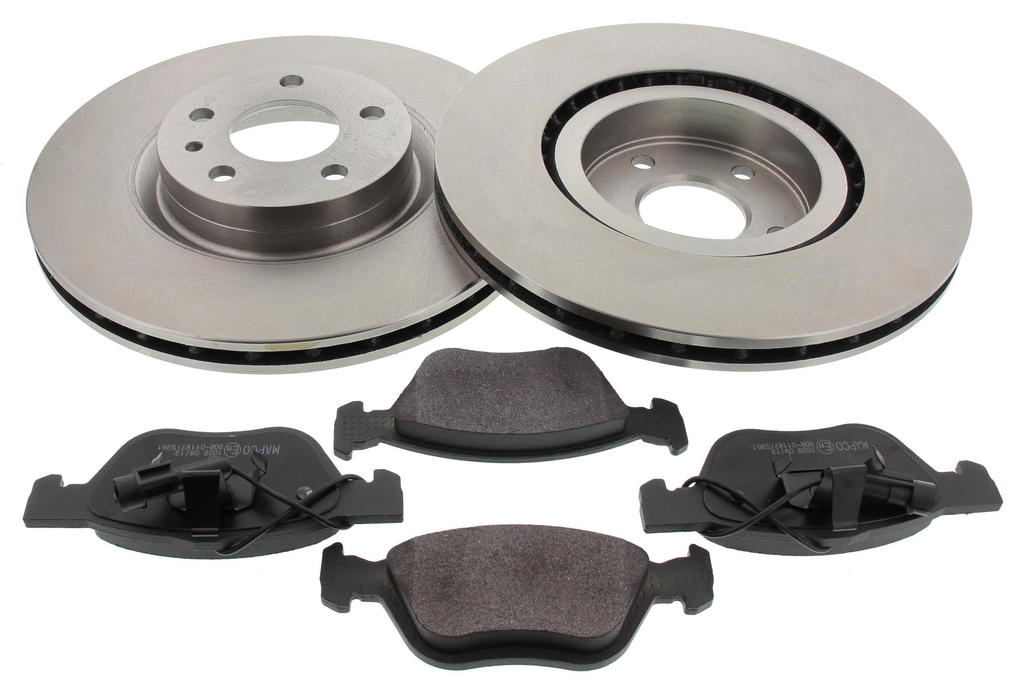 MAPCO 47016 Bremsensatz Bremsscheiben mit Bremsbelägen Vorderachse