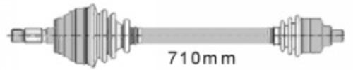 MAPCO 16117 Gelenkwelle Vorderachse rechts für Renault Clio