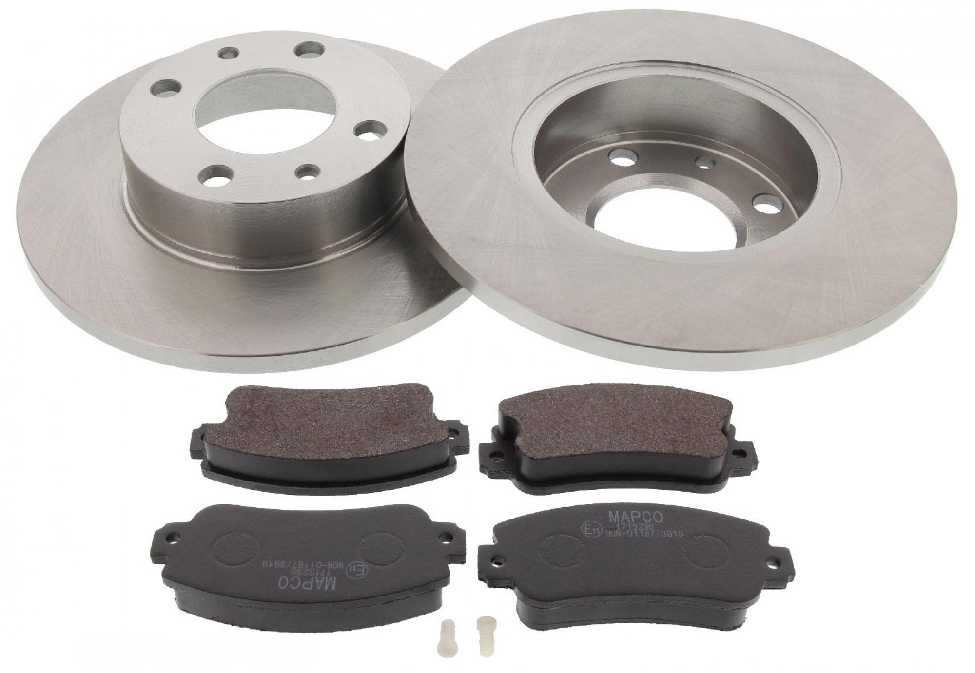 MAPCO 47010 Bremsensatz Bremsscheiben mit Bremsbelägen Vorderachse