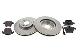 MAPCO 47777 Bremsensatz Bremsscheiben mit Bremsbelägen Vorderachse