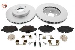 MAPCO 47810HPS Bremsensatz HPS Bremsscheiben + Carbon Bremsbeläge VA inkl. Warnkontakt