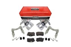 MAPCO 4884/6 Bremssattel + Bremssattelhalter + Bremsbeläge VW Golf Corrado G60 Umbau