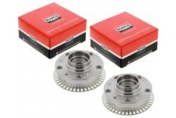 MAPCO 46732/5 Radnaben Satz Golf 2 /3 Jetta 2 Umbausatz auf 5x100 mit ABS Ring 22 Verzahnung