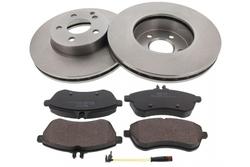 MAPCO 47820 Bremsensatz Bremsscheiben mit Bremsbelägen