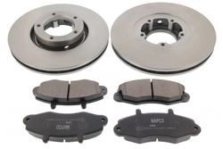 MAPCO 47665 Bremsensatz Bremsscheiben mit Bremsbeläge Vorderachse