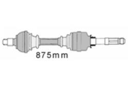 MAPCO 16411 Gelenkwelle Vorderachse rechts