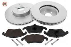MAPCO 47798HPS Bremsensatz HPS Bremsscheiben + Carbon Bremsbeläge VA
