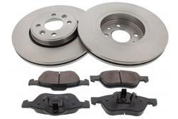 MAPCO 47174 Bremsensatz Bremsscheiben mit Bremsbeläge Vorderachse
