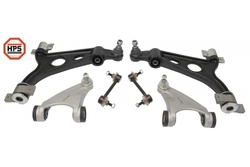 MAPCO 53026HPS MAPCO 2 LOWER 2 UPPER WISHBONE CONTROL ARMS + 2 STABILISER RODS