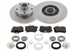MAPCO 47963HPS Carbon Bremsen Lochkreis Umbausatz Hinterachse 5x100 auf 5x112 VW Golf 1 / 2 / 3