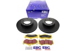 EBC 11147065D Bremsensatz Bremsscheiben mit Bremsbelägen