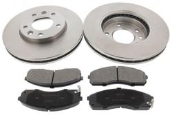 MAPCO 47216 Bremsensatz Bremsscheiben mit Bremsbelägen