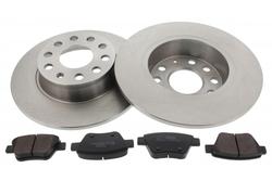 MAPCO 47901 Bremsensatz Bremsscheiben mit Bremsbelägen Hinterachse