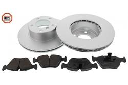 MAPCO 47887HPS Bremsensatz HPS Bremsscheiben + Carbon Bremsbeläge VA inkl. Warnkontakt