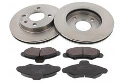 MAPCO 47650 Bremsensatz Bremsscheiben mit Bremsbeläge Vorderachse