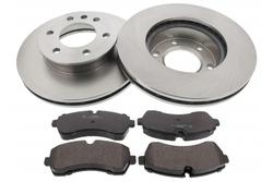 MAPCO 47917 Bremsensatz Bremsscheiben mit Bremsbelägen