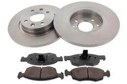 MAPCO 47167 Bremsensatz Bremsscheiben mit Bremsbelägen Vorderachse