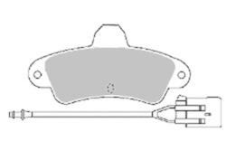 MAPCO 6392 Brake Pad Set, disc brake