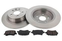 MAPCO 47662/1 Bremsensatz Bremsscheiben mit Bremsbelägen Hinterachse