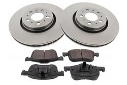MAPCO 47953 Bremsensatz Bremsscheiben mit Bremsbelägen