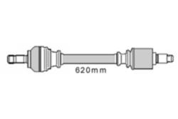 MAPCO 16420 Gelenkwelle Vorderachse links