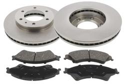 MAPCO 47823 Bremsensatz Bremsscheiben mit Bremsbelägen