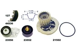 MAPCO 41536/1 Zahnriemensatz mit Wasserpumpe