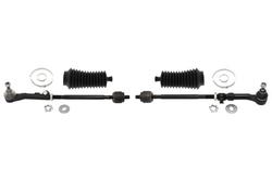 MAPCO 53167/1 Spurstange links und rechts, 2 Stück, mit Manschetten und Schellen