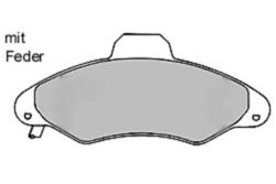 MAPCO 6388/1 Bremsbeläge (4 Stück)