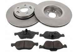 MAPCO 47175 Bremsensatz Bremsscheiben mit Bremsbeläge Vorderachse